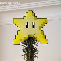 Small 8-bit Christmas Star 3D Printing 54434