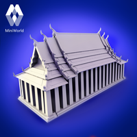 Small  Hall of the Reclining Buddha (Wat Pho)  3D Printing 54738