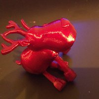Small Small jointed Reindeer 3D Printing 54789