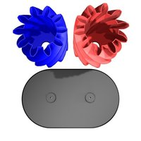 Small Turning gears with base... low-volume version 3D Printing 54852