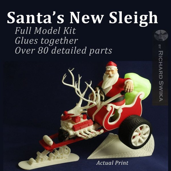 Medium Santa's New Sleigh 3D Printing 54889