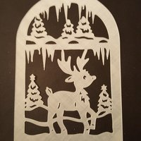Small Deer in the snow 3D Printing 54902