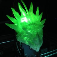 Small Dragon-Head Extruder Cover for Zortrax M200 3D Printing 54941
