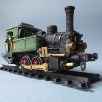 Small Steam locomotive T3 H0 3D Printing 54959