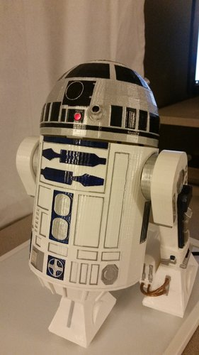R2D2 Non Electronic Version 3D Print 54975