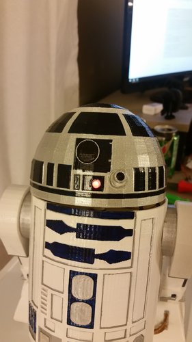 R2D2 Non Electronic Version 3D Print 54976