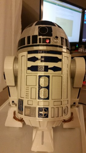 R2D2 Non Electronic Version 3D Print 54977