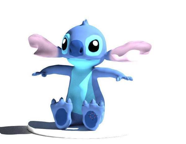 Medium Stitch Action Figure Statue  3D Printing 55074