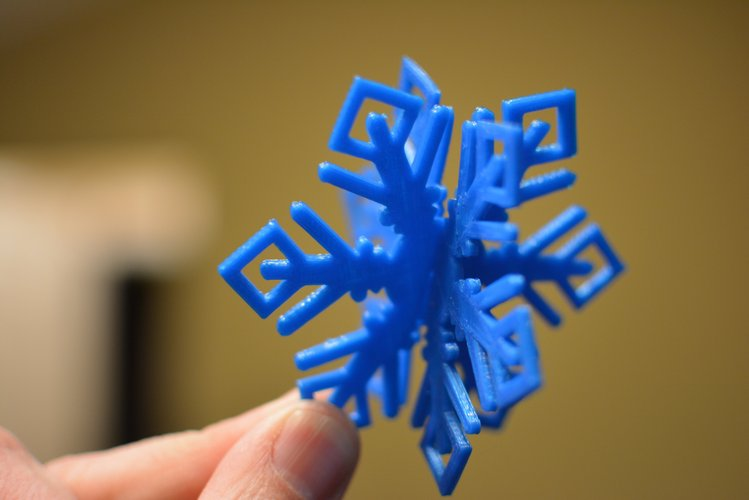 MkrClub Snowflake 2-part Tree ornament 3D Print 55081