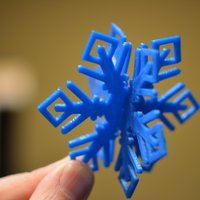 Small MkrClub Snowflake 2-part Tree ornament 3D Printing 55081
