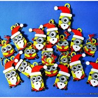 Small Minions Keychain / Magnets -Christmas cute version 3D Printing 55118