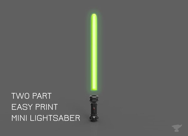 Medium Mini Lightsaber - two parts 3D Printing 55159