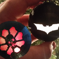 Small Light Up Ornaments (Batman & Gears of War) 3D Printing 55309