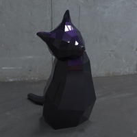 Small Low Poly Cat 3D Printing 5535
