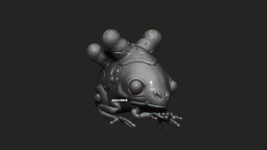 Frog with Shell 3D Print 5539