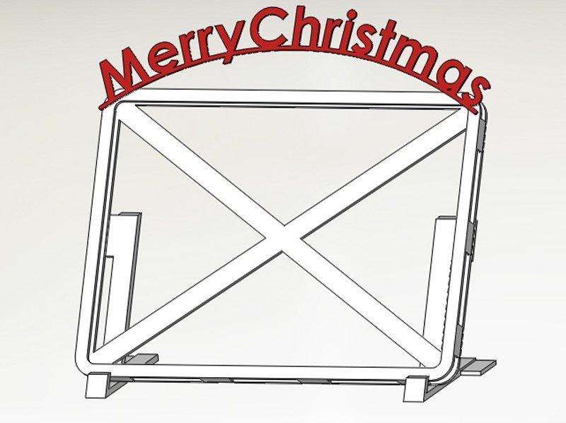 3d printed alternative christmas card frame by watchmaker pinshape