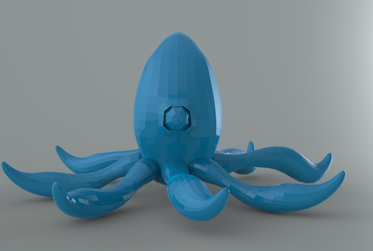 Low Poly Space Octopus 3D Print 5546