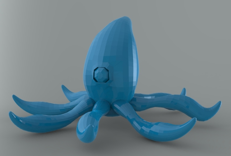 Low Poly Space Octopus 3D Print 5547