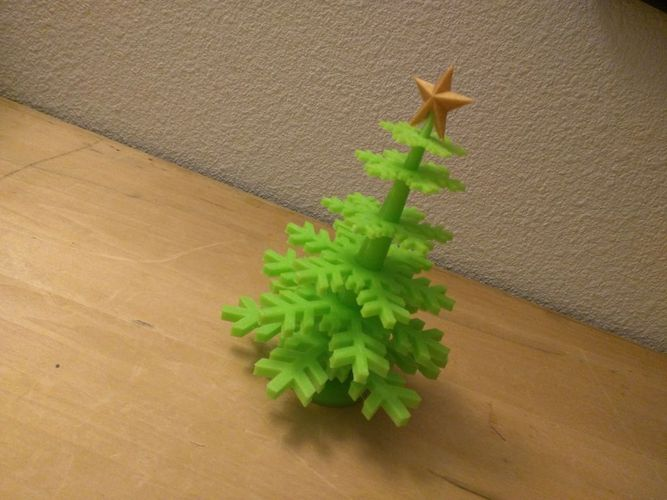 Christmas Tree - no support - Merry Christmas... 3D Print 55485