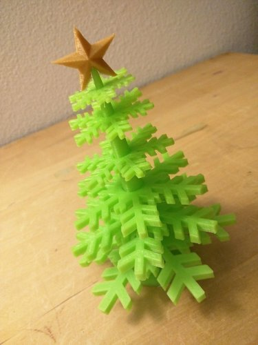 Christmas Tree - no support - Merry Christmas... 3D Print 55486