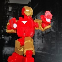 Small Iron Man - MARK VI Suit - Fully Posable - no supports 3D Printing 55522