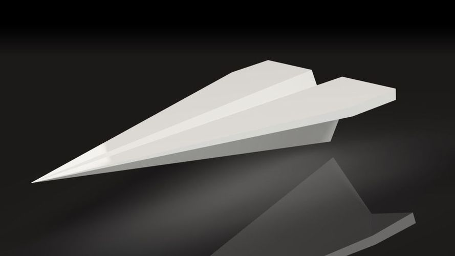 Cool Paper Plane - desktop business card holder 3D Print 55524