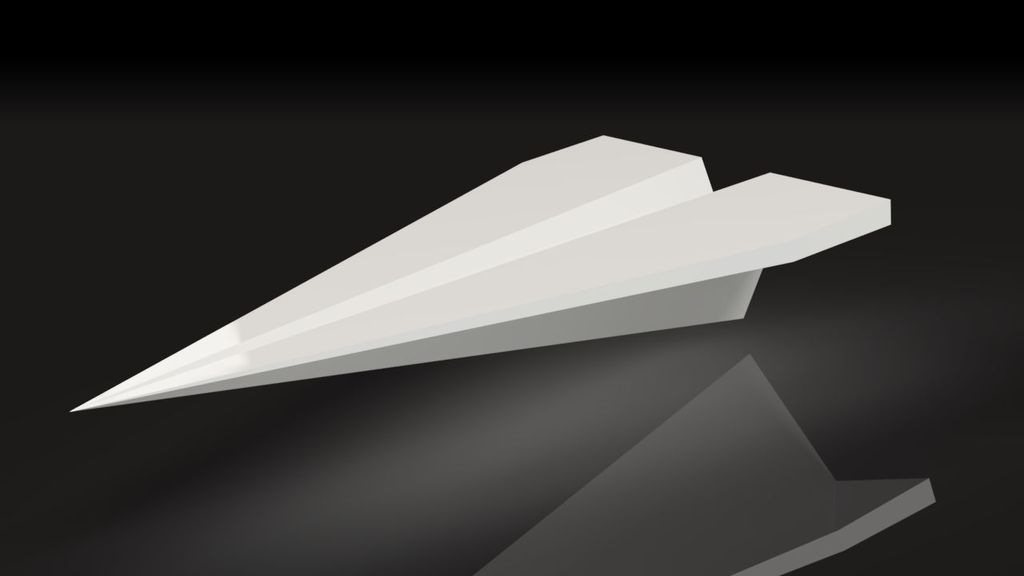 3D Printed Cool Paper Plane - desktop business card holder by Tony D ...