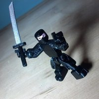 Small Lil Ninja - Open Source Minifig 3D Printing 55689