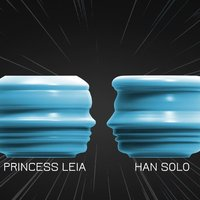 Small Han Solo & Princess Leia Starwars candle holder 3D Printing 55772