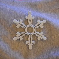 Small Snowflake Ornament 3D Printing 55896