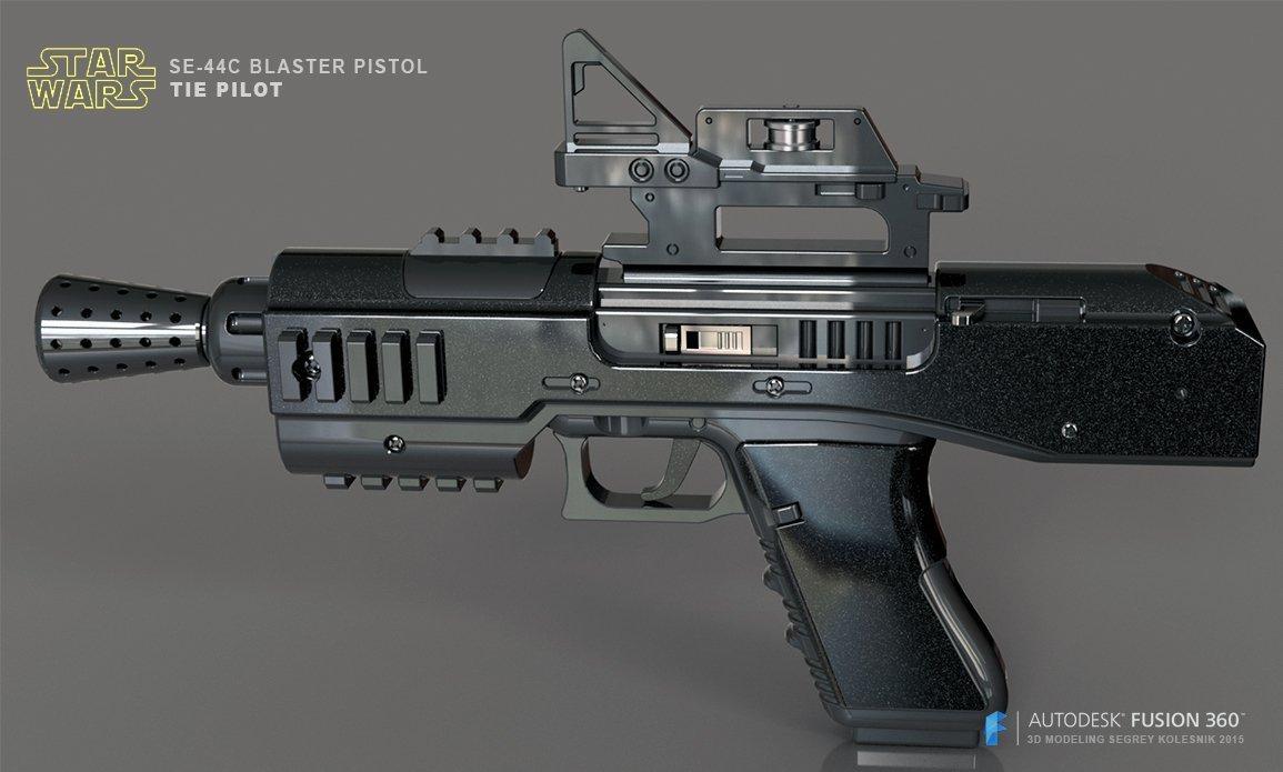SE-44C blaster pistol @ Pinshape