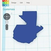 Small Guatemala Outline 3D Printing 56048
