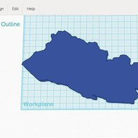 Small El Salvador Outline 3D Printing 56067
