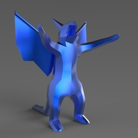 Small Low Poly Dragon 3D Printing 5615