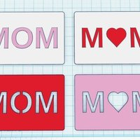 Small MOM Card 3D Printing 56152