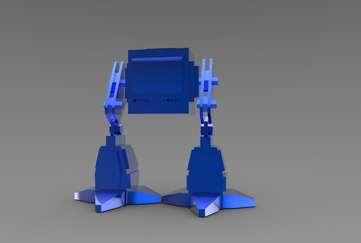 Low Poly Battle Robot 3D Print 5618