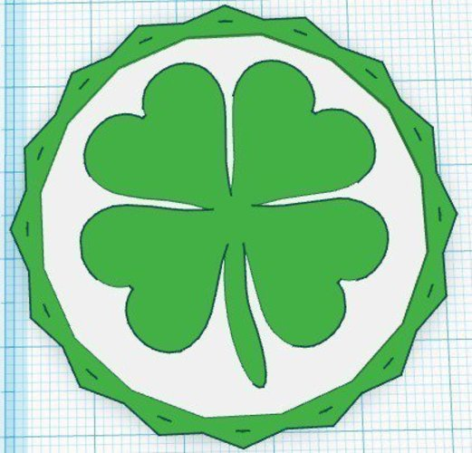 3D Printed 4 Leaf Clover Coin (Shamrock) by DesignMakeTeach ...