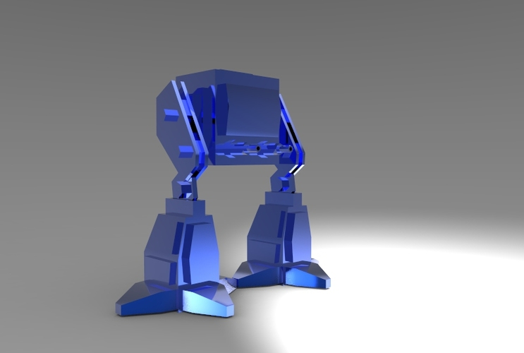 Low Poly Battle Robot 3D Print 5619