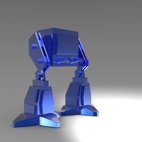 Small Low Poly Battle Robot 3D Printing 5619