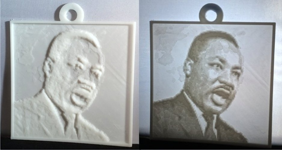 Martin Luther King, Jr. Lithopane 3D Print 56196