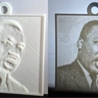 Small Martin Luther King, Jr. Lithopane 3D Printing 56196