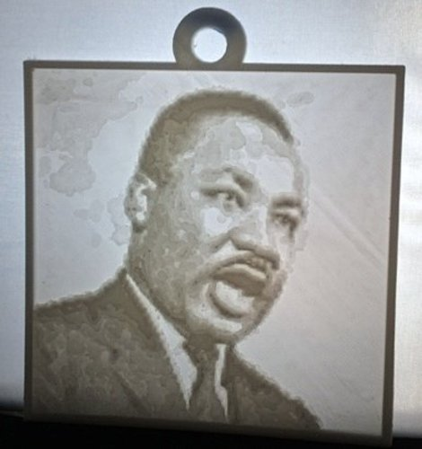Martin Luther King, Jr. Lithopane 3D Print 56197