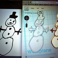 Small Snowman Ornament - Hand Drawn Teacher Gift 3D Printing 56203