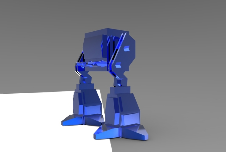 Low Poly Battle Robot 3D Print 5622