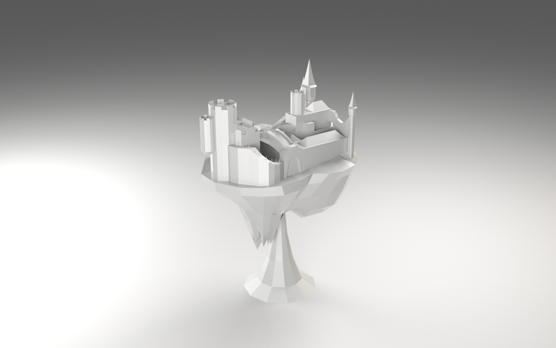Floating Castle 3D Print 5623