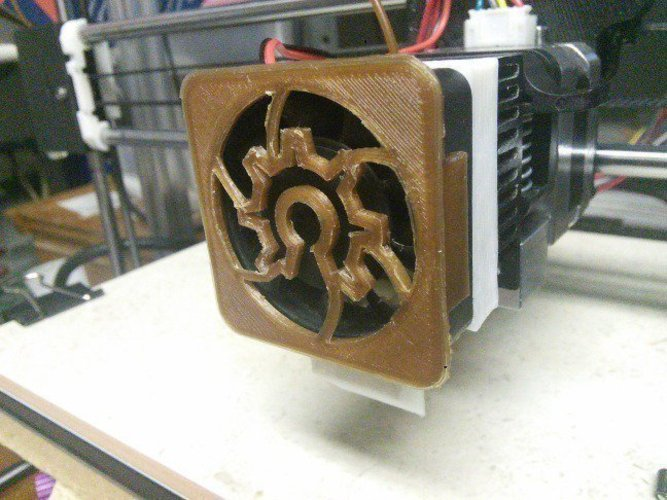 Open Hardware 40mm Clip-On Fan Cover 3D Print 56261