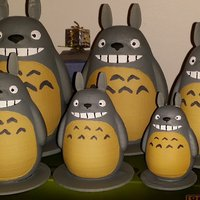 Small TOTORO my friends (reworked) 3D Printing 56329