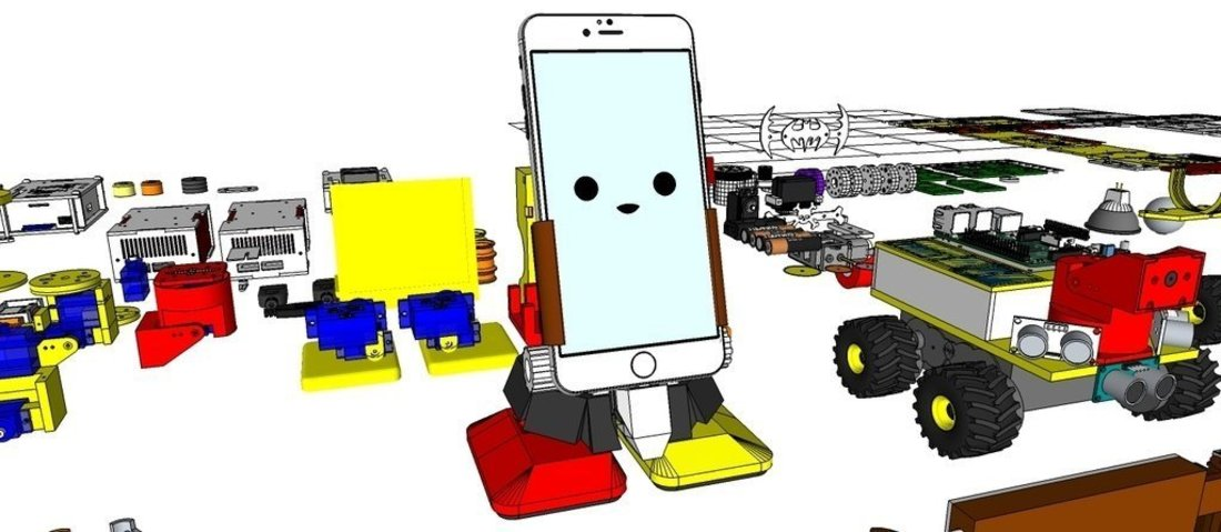 MobBob V2 Remix - Smart Phone Controlled Robot 3D Print 56367