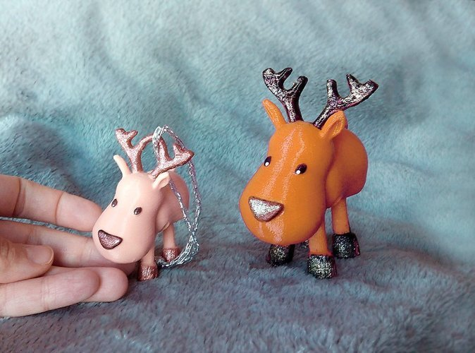 Small Jointed Reindeer 3D Print 56376
