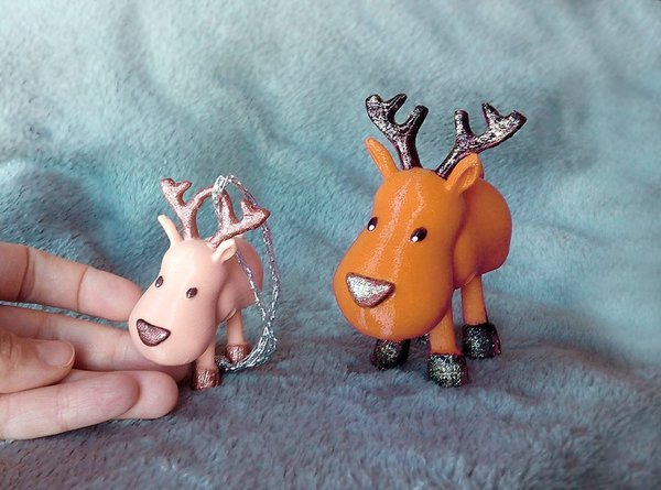 Medium Small Jointed Reindeer 3D Printing 56376